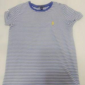 Ralph Laurens Blue & White Striped Shirt SP